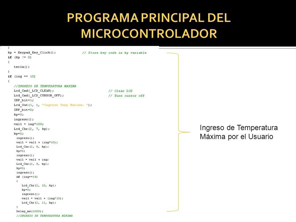 PROGRAMA PRINCIPAL DEL MICROCONTROLADOR