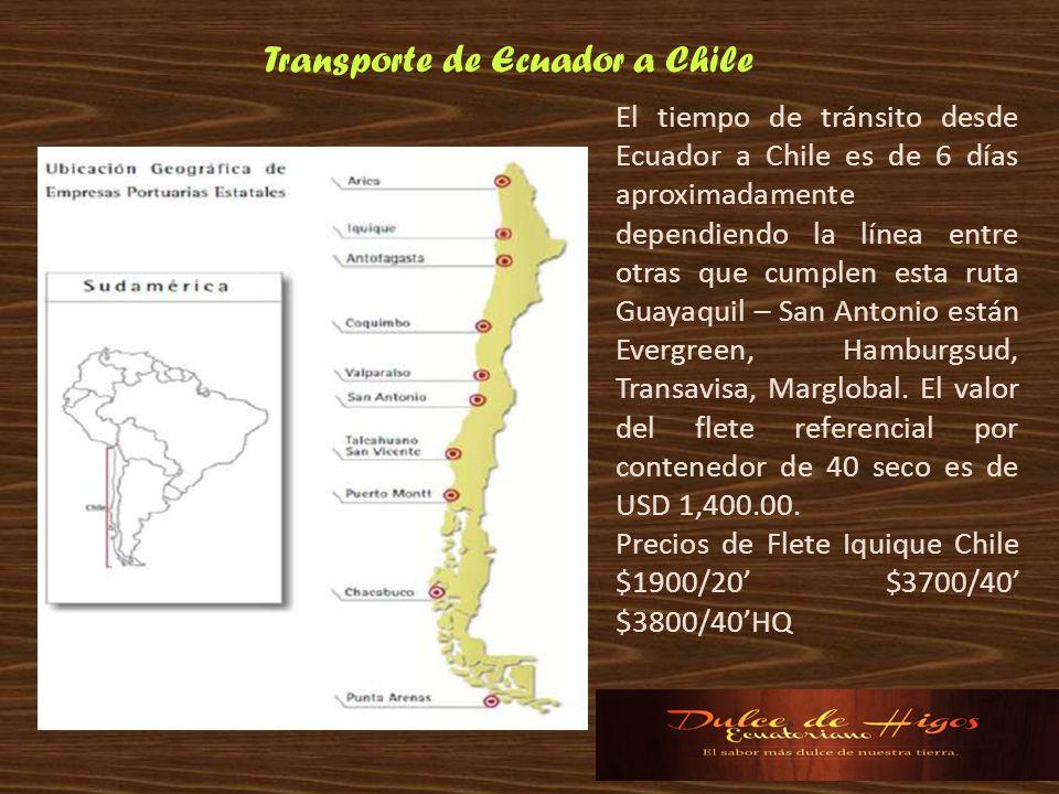 Transporte de Ecuador a Chile