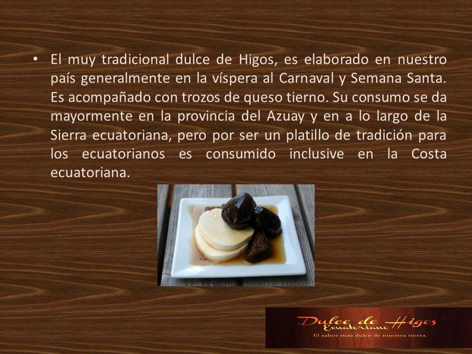 El muy tradicional dulce de Higos, es elaborado en nuestro país generalmente en la víspera al Carnaval y Semana Santa.
