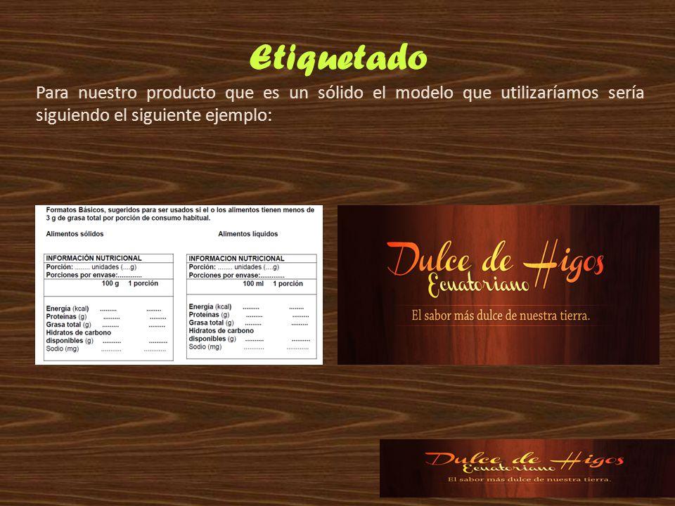 Etiquetado Para nuestro producto que es un sólido el modelo que utilizaríamos sería siguiendo el siguiente ejemplo: