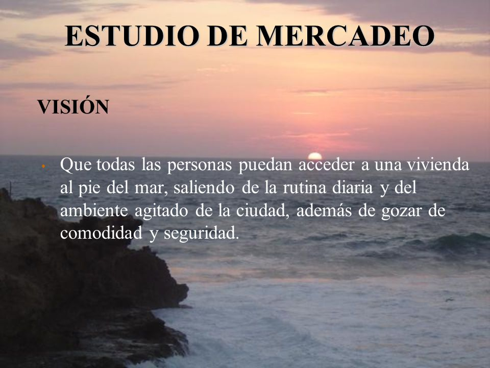 ESTUDIO DE MERCADEO VISIÓN