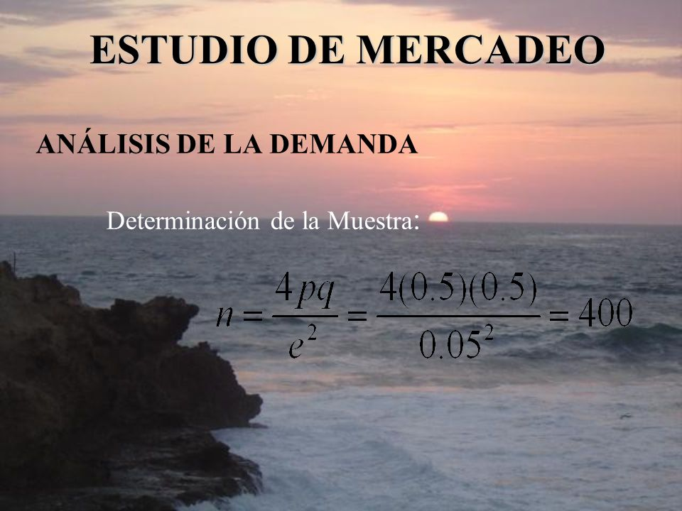 ESTUDIO DE MERCADEO ANÁLISIS DE LA DEMANDA