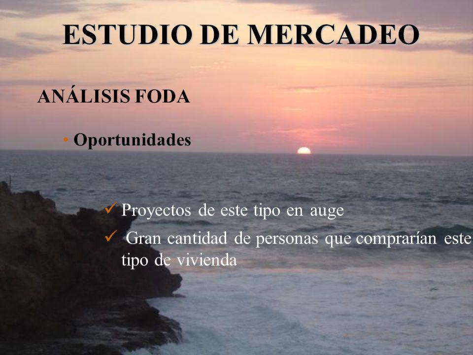 ESTUDIO DE MERCADEO ANÁLISIS FODA Oportunidades