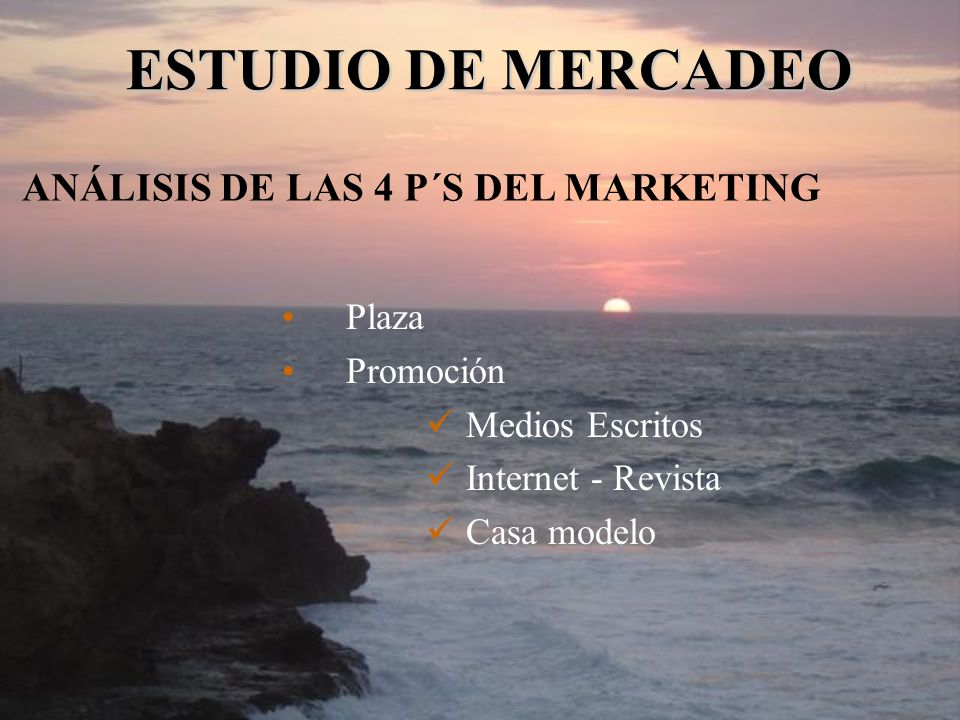 ANÁLISIS DE LAS 4 P´S DEL MARKETING