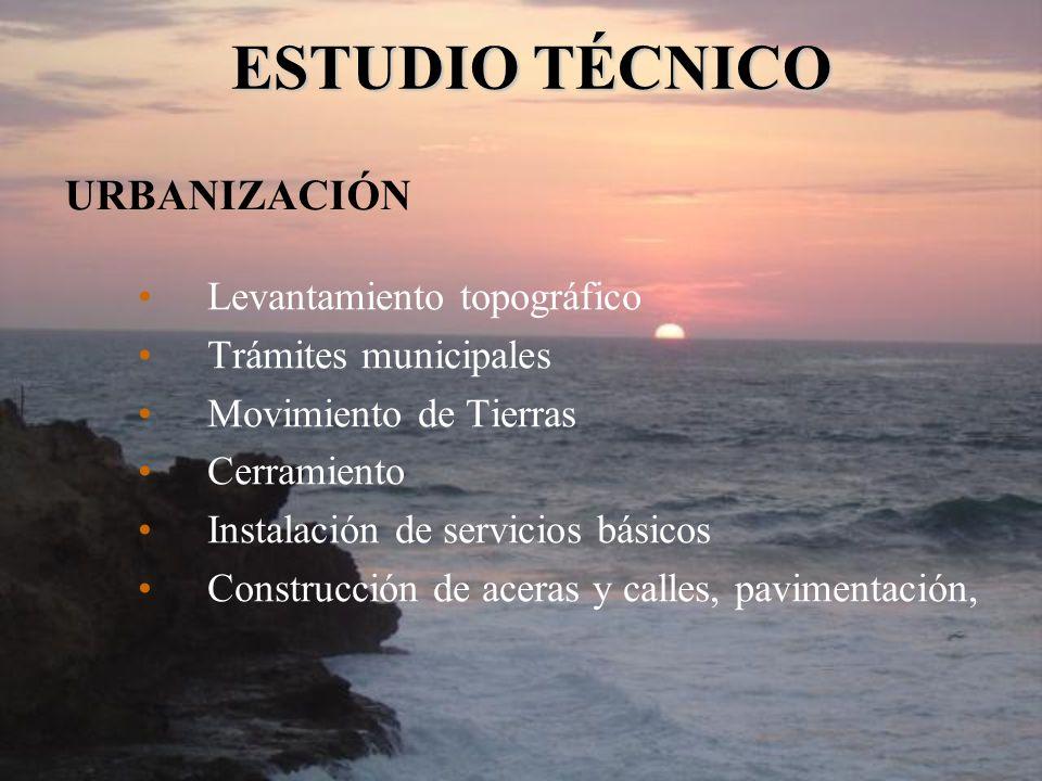 ESTUDIO TÉCNICO URBANIZACIÓN Levantamiento topográfico