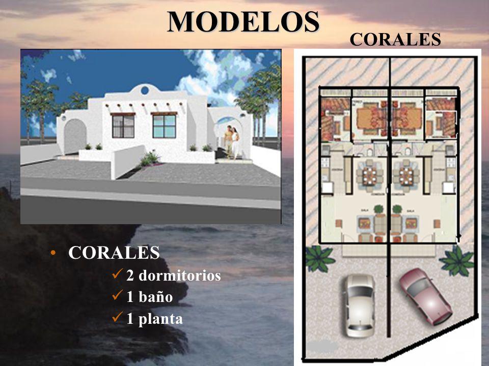 MODELOS CORALES CORALES 2 dormitorios 1 baño 1 planta
