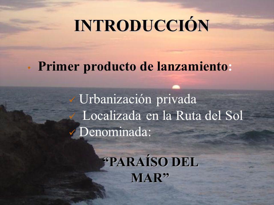 INTRODUCCIÓN Primer producto de lanzamiento: Urbanización privada