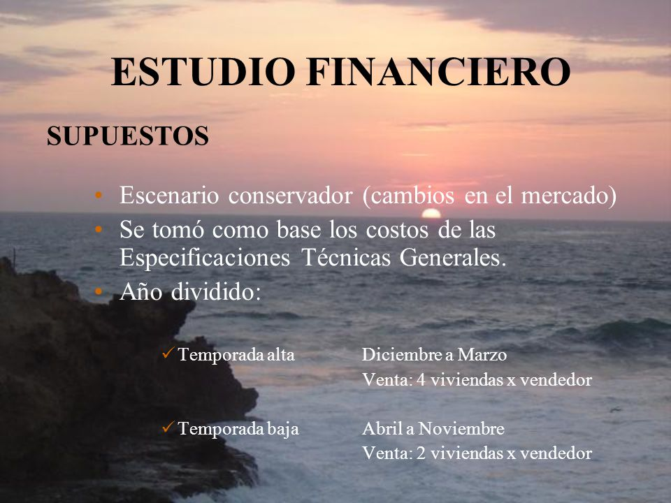 ESTUDIO FINANCIERO SUPUESTOS