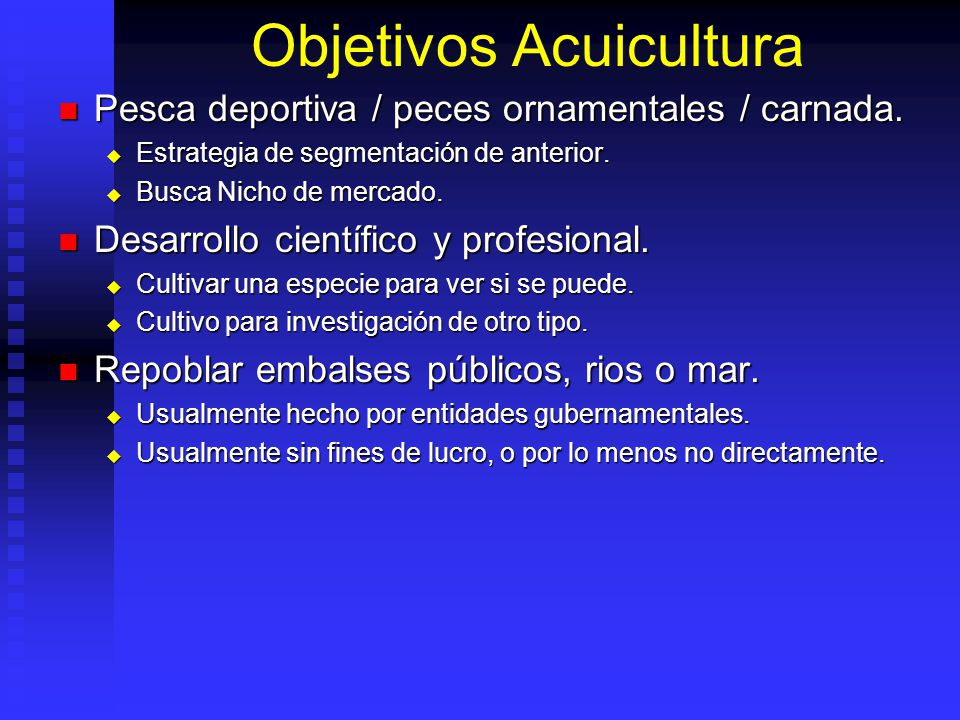 Objetivos Acuicultura