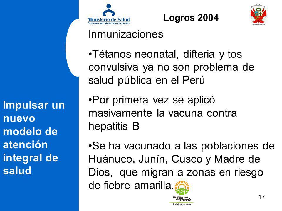 Por primera vez se aplicó masivamente la vacuna contra hepatitis B