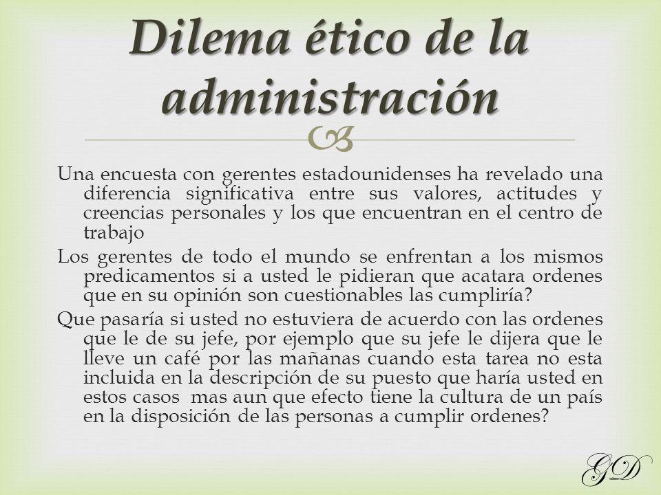 Dilema ético de la administración