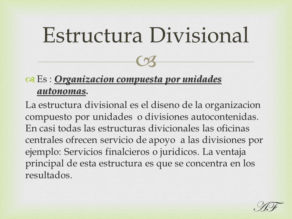 Estructura Divisional