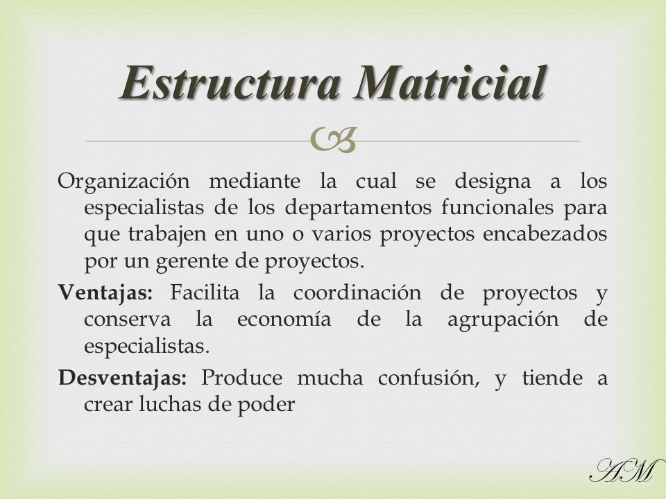 Estructura Matricial AM