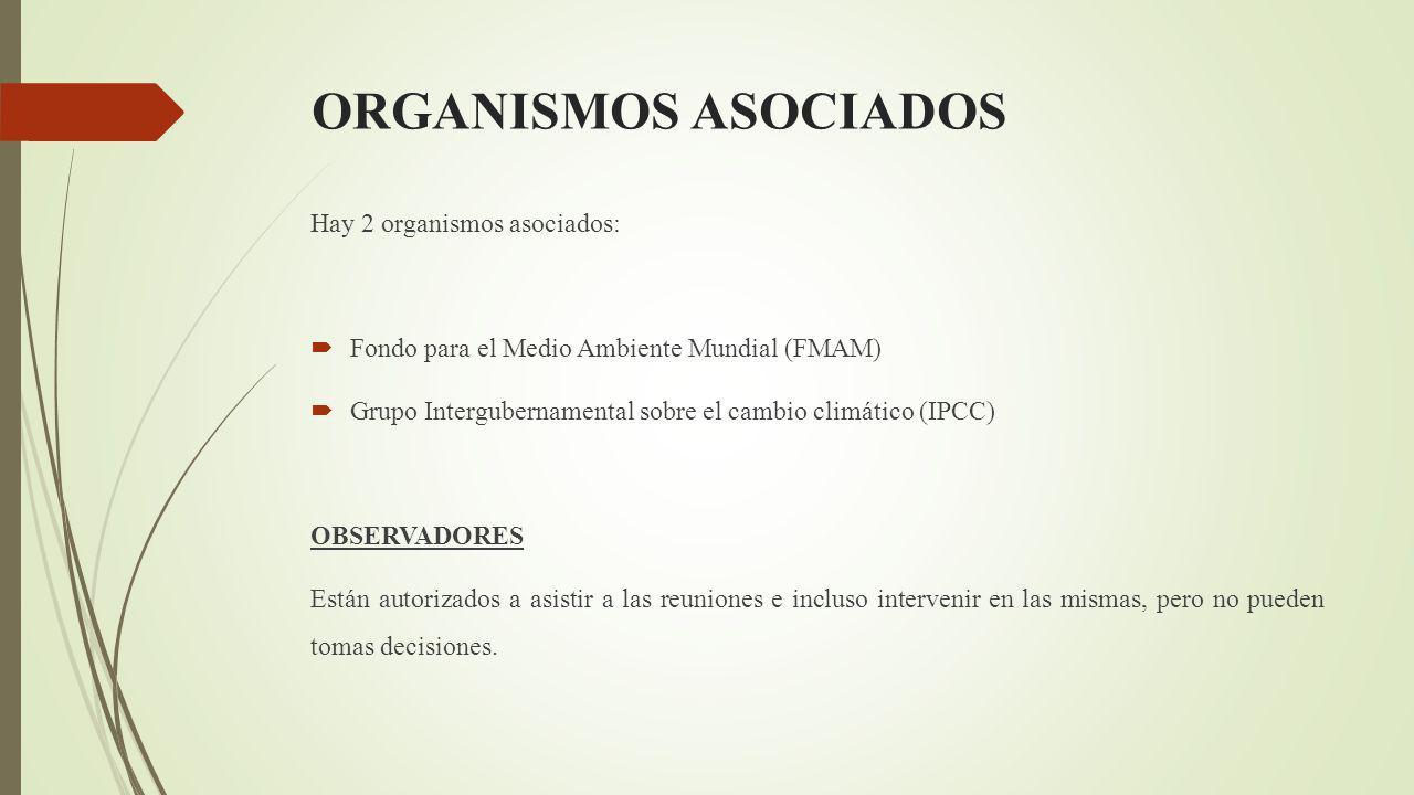 ORGANISMOS ASOCIADOS Hay 2 organismos asociados: