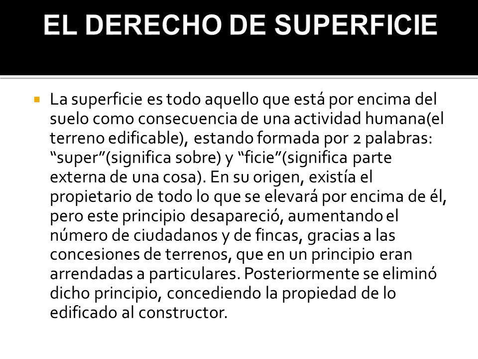 EL DERECHO DE SUPERFICIE