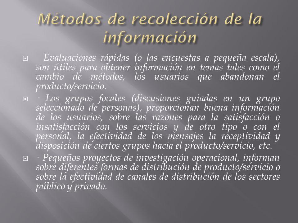 Métodos de recolección de la información