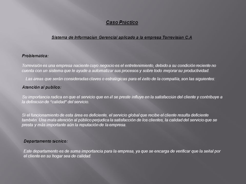 Sistema de Información Gerencial aplicado a la empresa Torrevisión C.A
