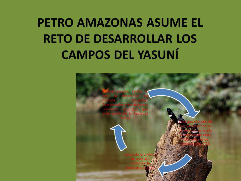 PETRO AMAZONAS ASUME EL RETO DE DESARROLLAR LOS CAMPOS DEL YASUNÍ
