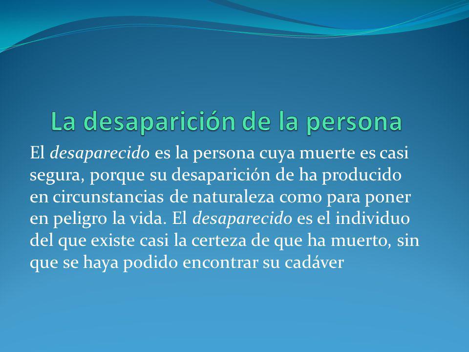 La desaparición de la persona