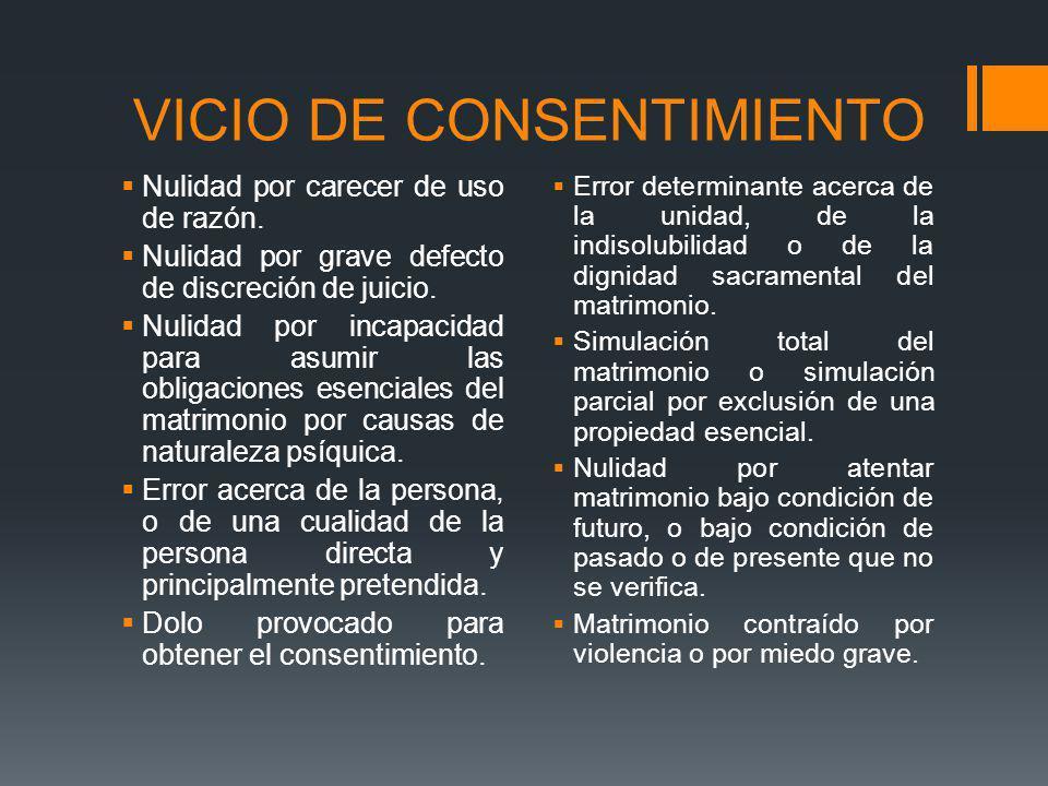 VICIO DE CONSENTIMIENTO