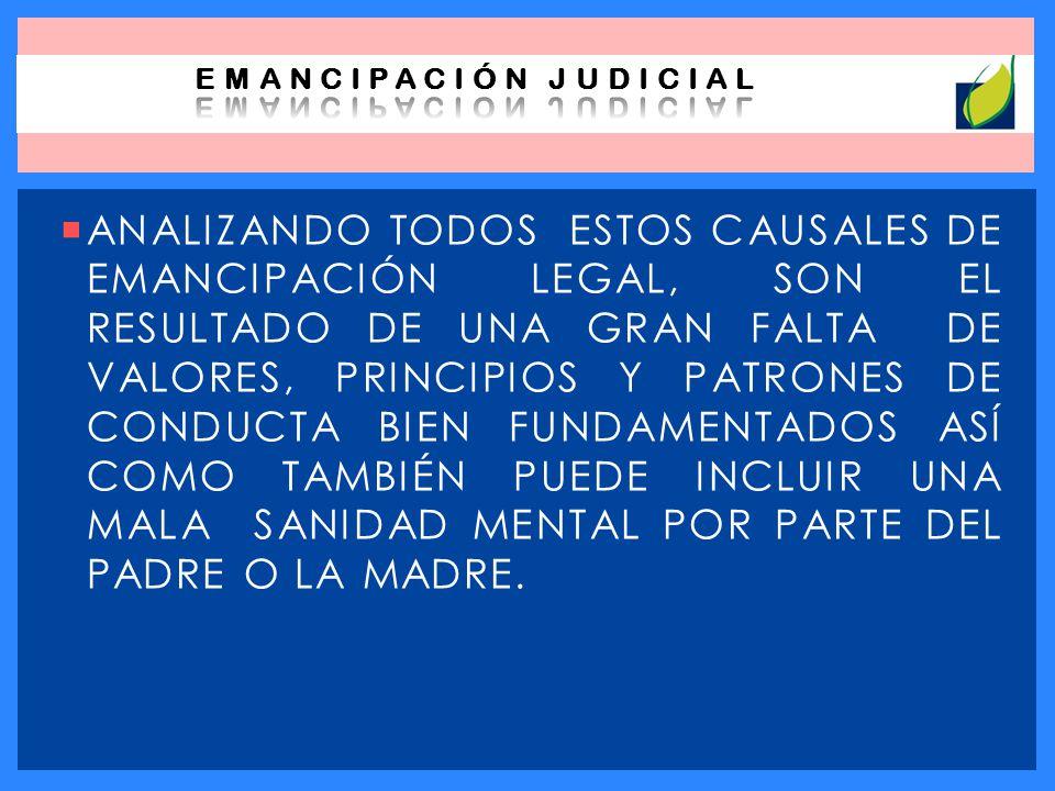EMANCIPACIÓN JUDICIAL
