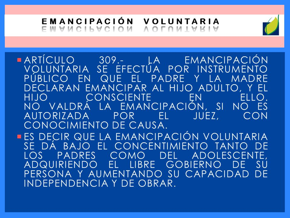 EMANCIPACIÓN VOLUNTARIA