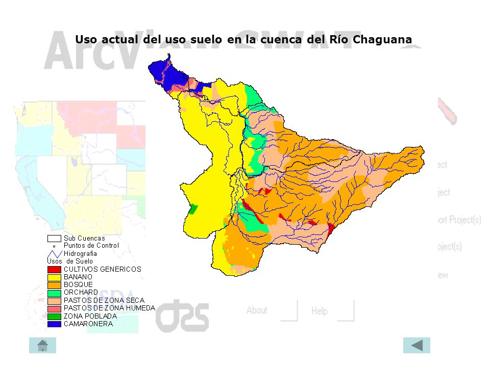 Uso actual del uso suelo en la cuenca del Río Chaguana