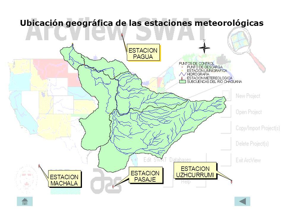 Ubicación geográfica de las estaciones meteorológicas