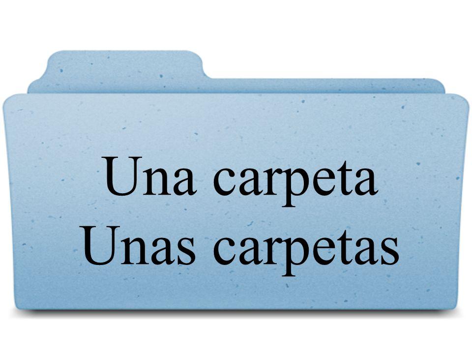 Una carpeta Unas carpetas