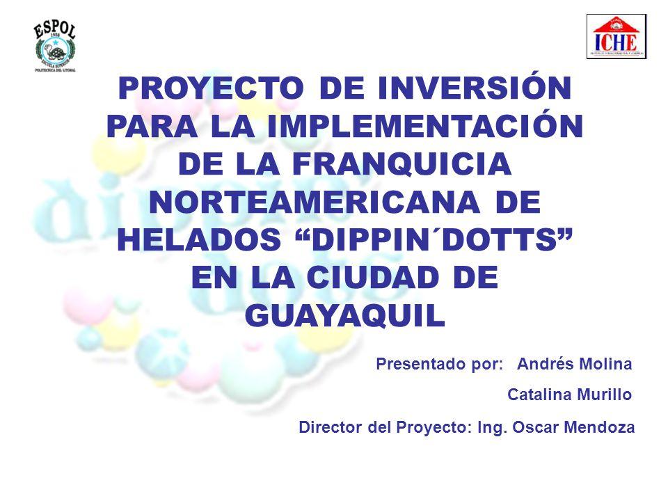 PROYECTO DE INVERSIÓN PARA LA IMPLEMENTACIÓN DE LA FRANQUICIA NORTEAMERICANA DE HELADOS DIPPIN´DOTTS EN LA CIUDAD DE GUAYAQUIL