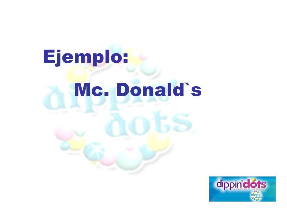 Ejemplo: Mc. Donald`s