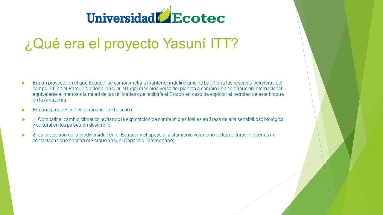 ¿Qué era el proyecto Yasuní ITT