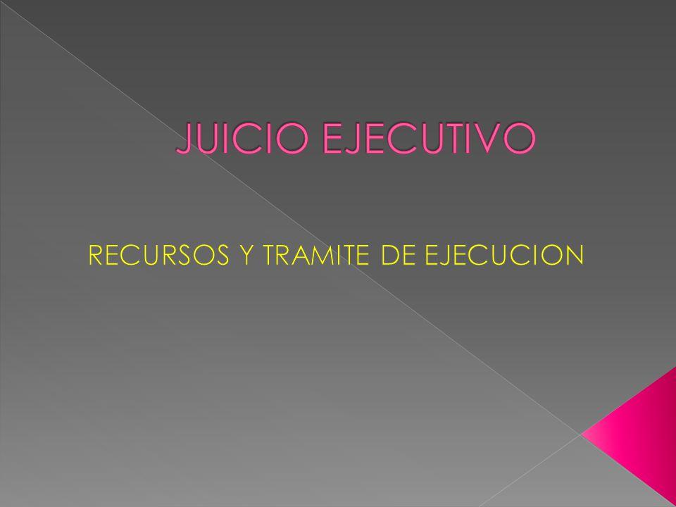 RECURSOS Y TRAMITE DE EJECUCION