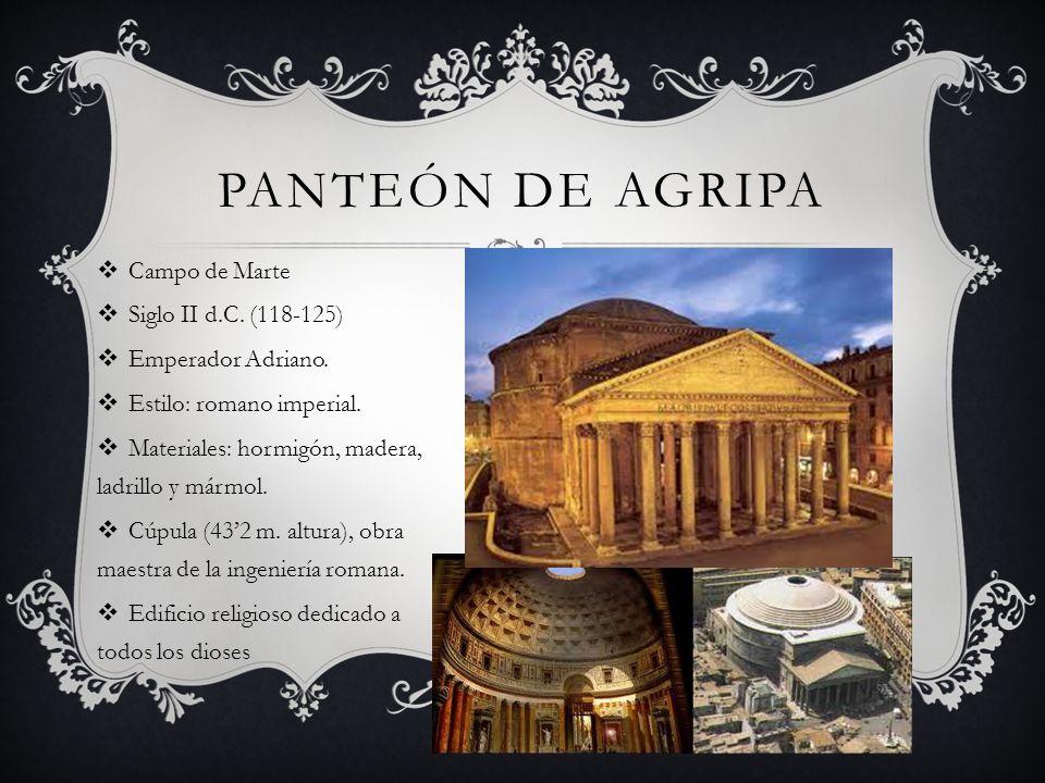 Panteón de Agripa Campo de Marte Siglo II d.C. (118-125)