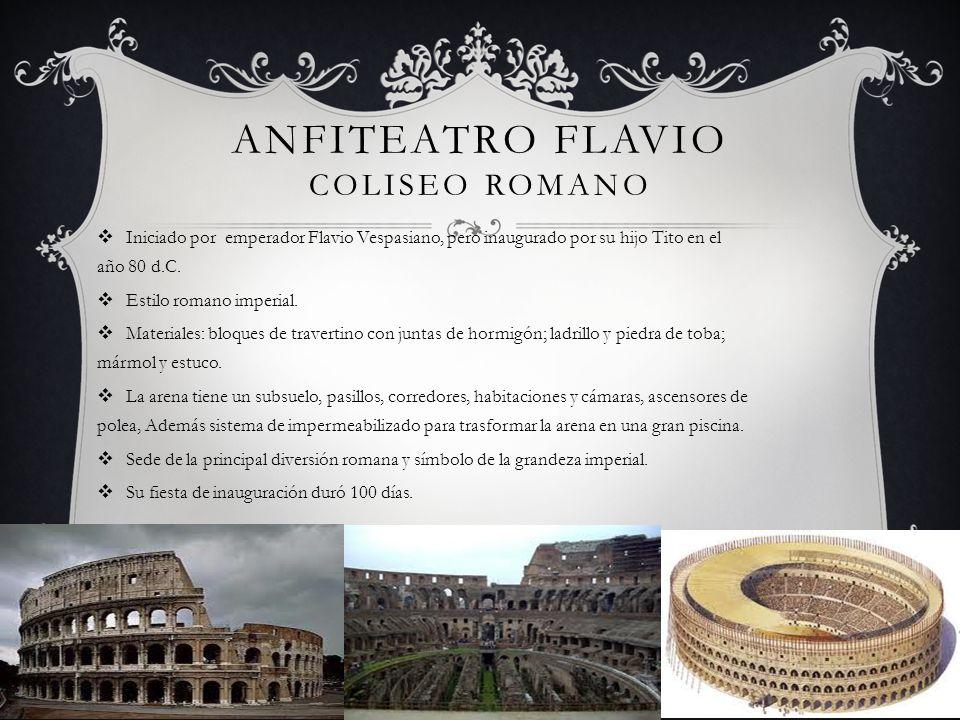 Anfiteatro Flavio Coliseo romano