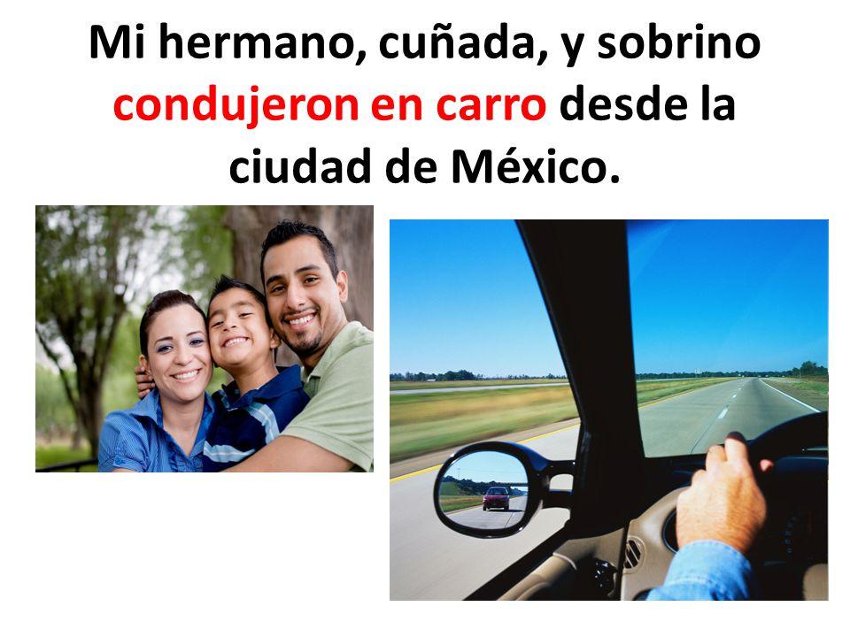 Mi hermano, cuñada, y sobrino condujeron en carro desde la ciudad de México.