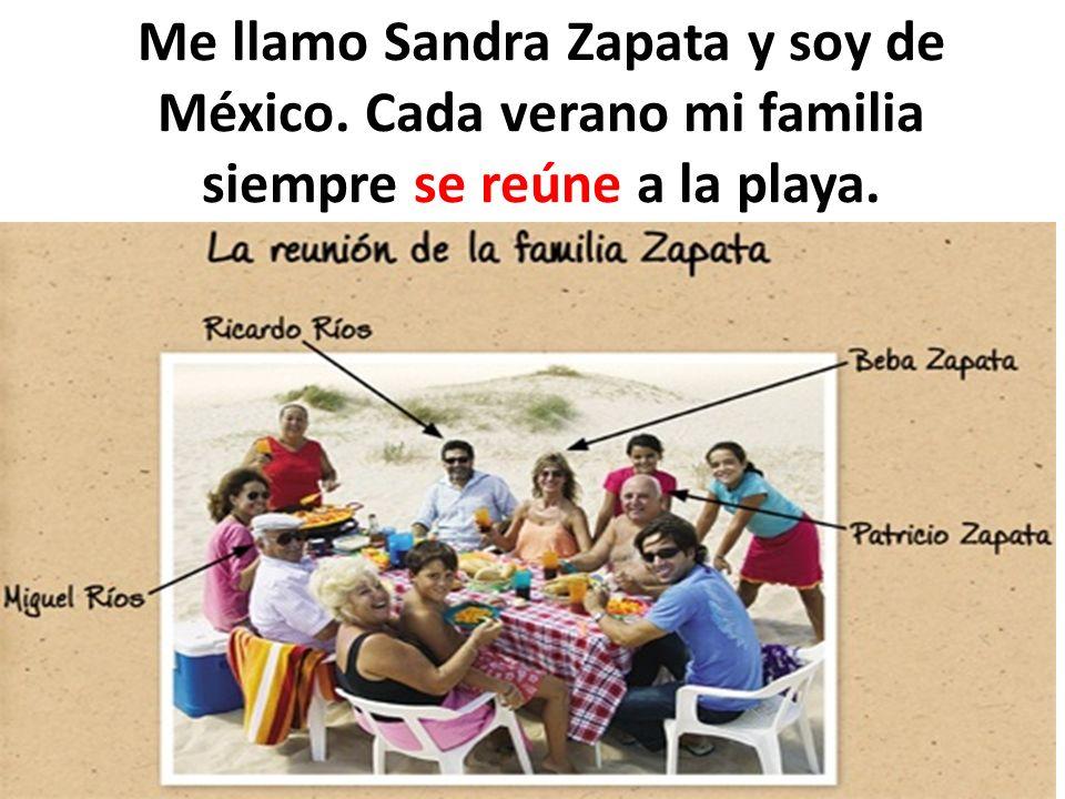 Me llamo Sandra Zapata y soy de México