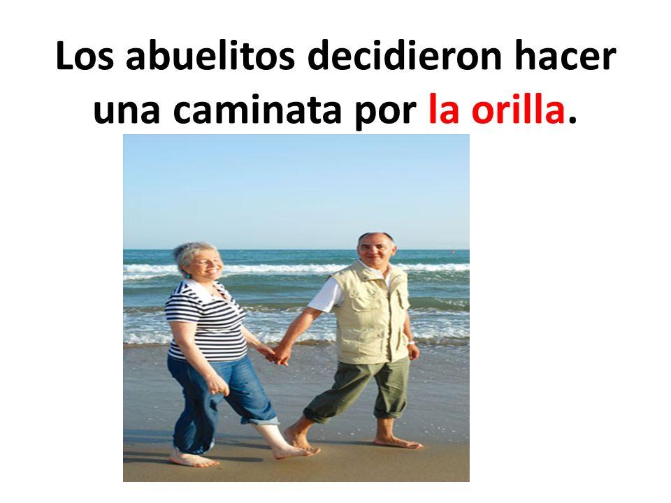 Los abuelitos decidieron hacer una caminata por la orilla.