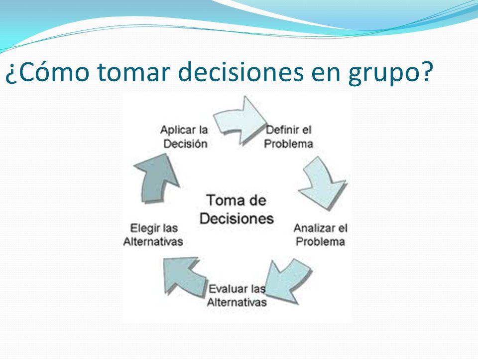 ¿Cómo tomar decisiones en grupo