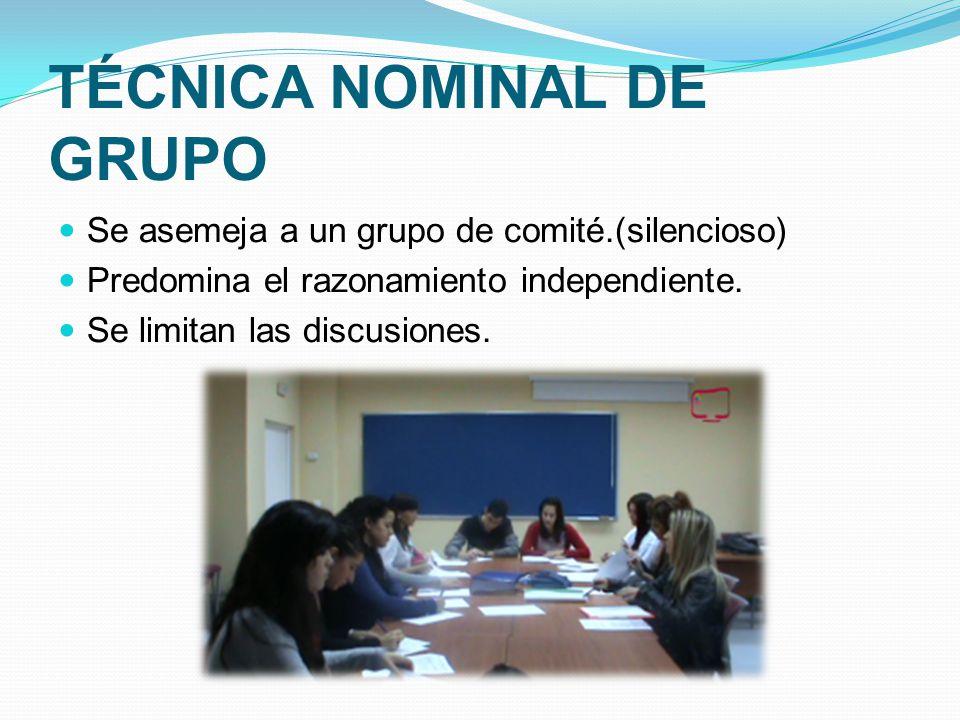 TÉCNICA NOMINAL DE GRUPO