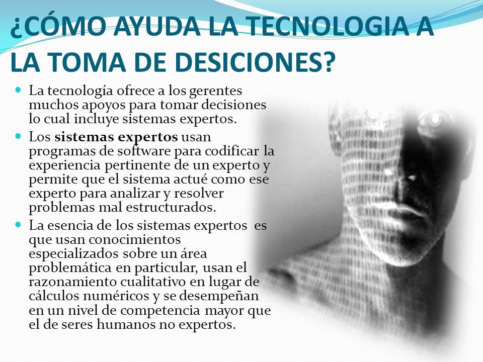 ¿CÓMO AYUDA LA TECNOLOGIA A LA TOMA DE DESICIONES