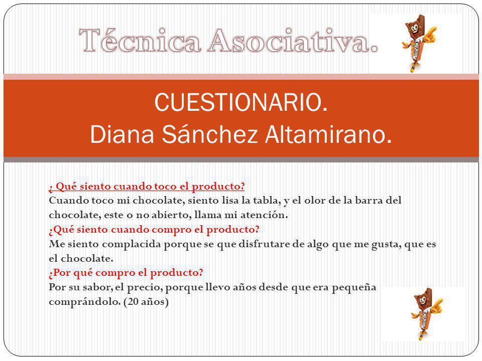 CUESTIONARIO. Diana Sánchez Altamirano.