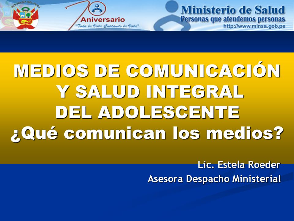 Lic. Estela Roeder Asesora Despacho Ministerial