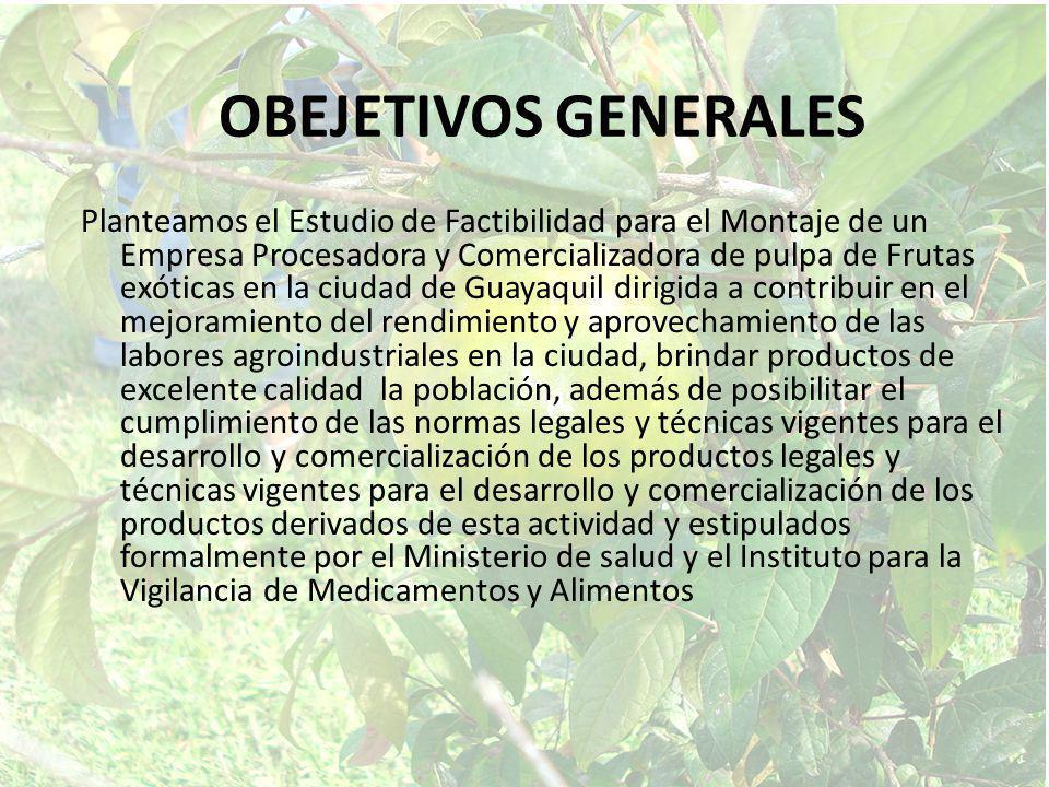 OBEJETIVOS GENERALES