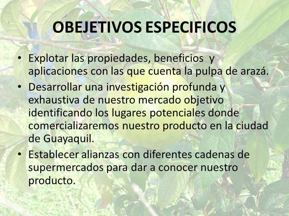OBEJETIVOS ESPECIFICOS