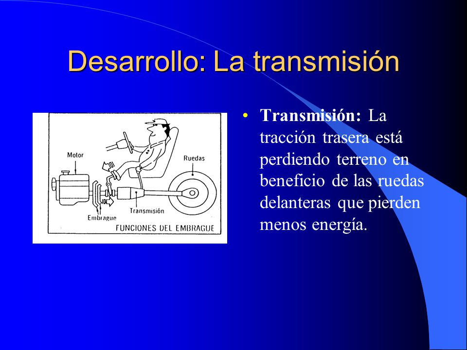 Desarrollo: La transmisión