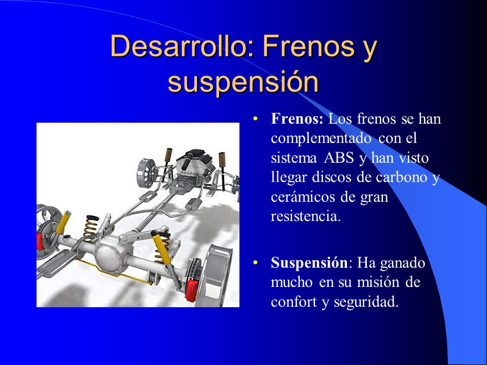 Desarrollo: Frenos y suspensión