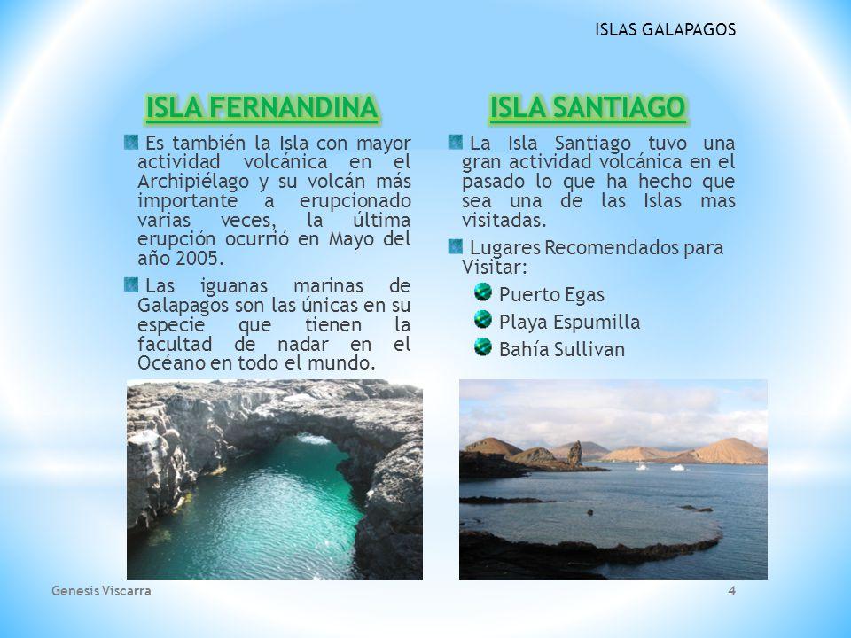 ISLA FERNANDINA ISLA SANTIAGO