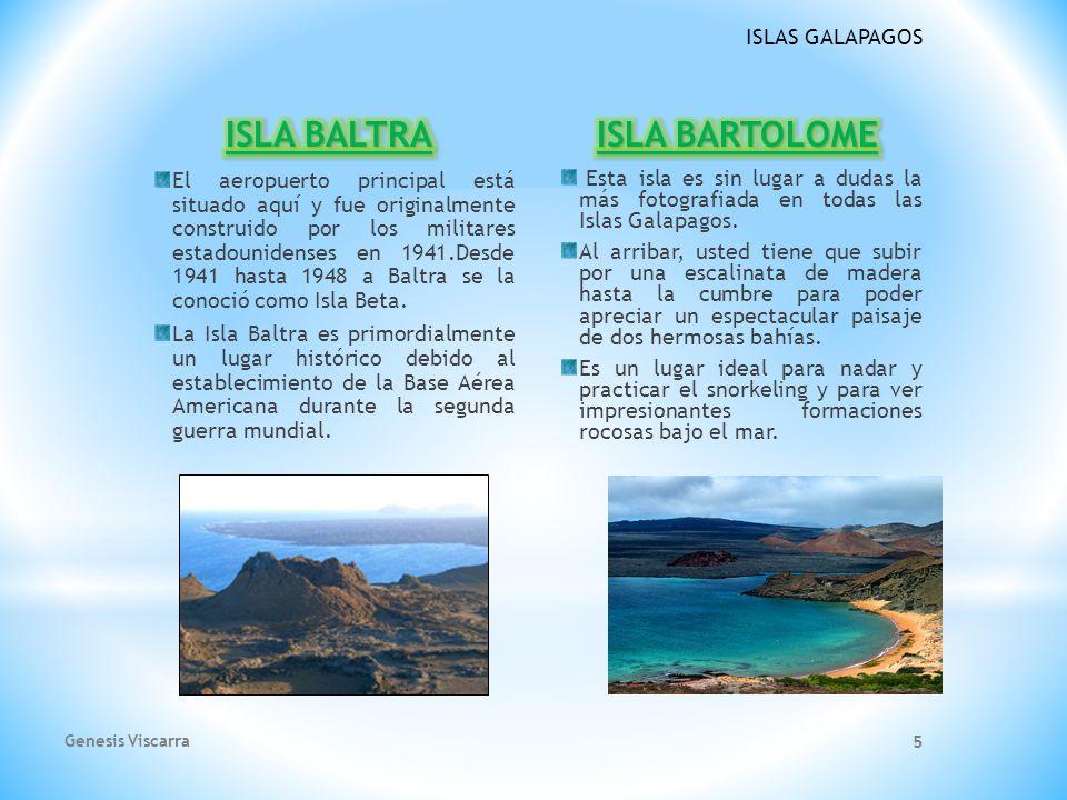 ISLA BALTRA ISLA BARTOLOME