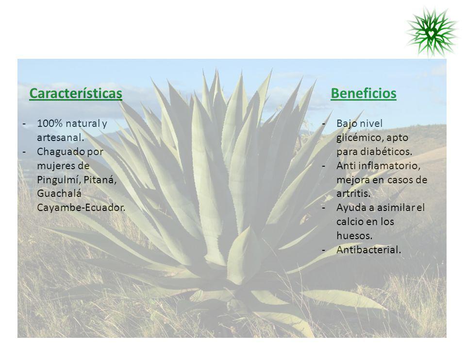 Características Beneficios 100% natural y artesanal.